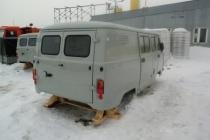 КУЗОВ УАЗ-3909 1-й комплектности под карбюраторный двигатель (7 мест + грузовой отсек, цельнометаллический) 390900500001000